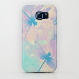 Blue Painting Dragonflies iPhone Case