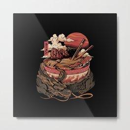 Dragon's Ramen Metal Print