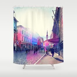 Tallinn art 9 #tallinn #city Shower Curtain