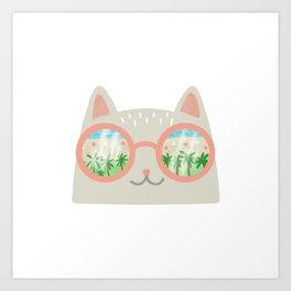 va-CAT-ion Art Print