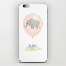 Elephant in a balloon iPhone Skin