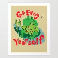 Cranky Froggie Art Print
