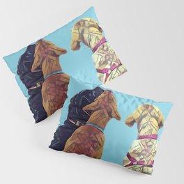 Three Amigos I in aqua Pillow Sham