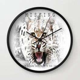 Jaguar MISSING Wall Clock