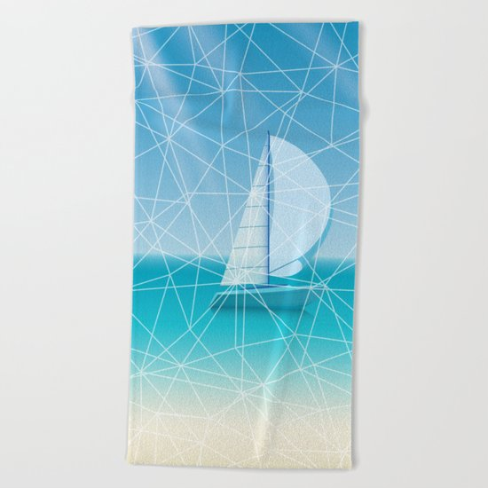 Geometric sea Beach Towel
