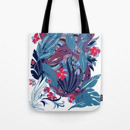 Plum Jungle Tote Bag