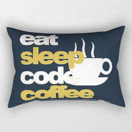 Programmer : Eat, Sleep, Code, and Coffee Rectangular Pillow