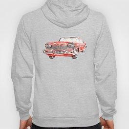 Watercolor Red Classic Car Hoody