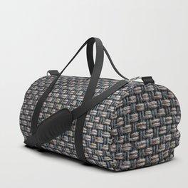 Wool cross pattern Duffle Bag