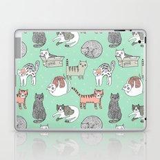 Cat pattern cute nursery cat lady kittens by andrea lauren Laptop & iPad Skin