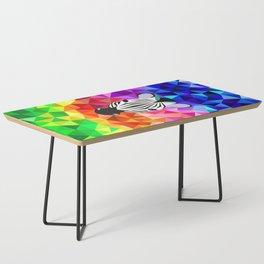 Zebra Dazzle Coffee Table