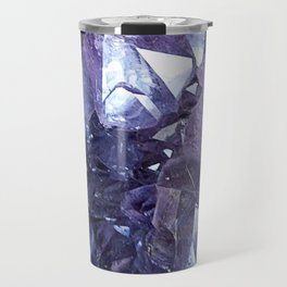 Amethyst Crystal Cluster Travel Mug