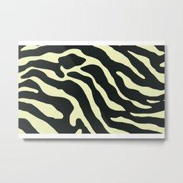 Tiger Skin Pattern Cream Metal Print