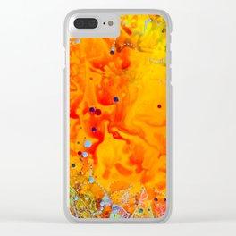 Tangerine Dream Clear iPhone Case
