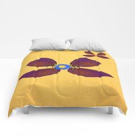 butterfly flowers Comforters
