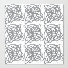 Curvy1Print Grey and White Canvas Print