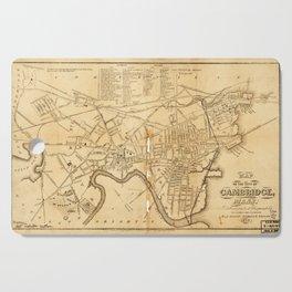 Map of Cambridge, Massachusetts (1857) Cutting Board