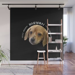 Narwhal The Little Magical Furry Unicorn. The cutest puppy on the planet. Wall Mural