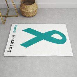 Fear Nothing: Teal Ribbon Rug