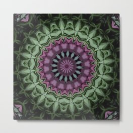Rose and Jade Floral Fantasy Metal Print