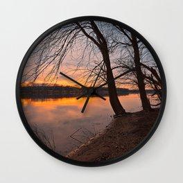 Potomac River Sunset Wall Clock
