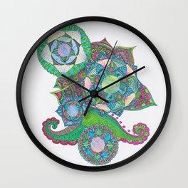 colourful mandalas Wall Clock