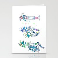 iwatobi Stationery Cards featuring Missed the Boat by Alyssa Tye