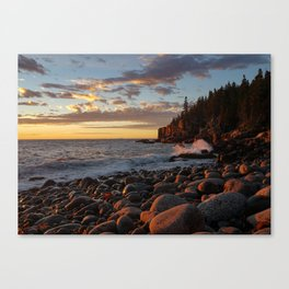Sunrise at Otter Cliff III Canvas Print