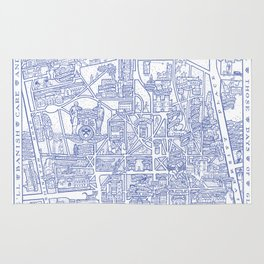 PRINCETON university map NEW JERSEY dorm decor Rug