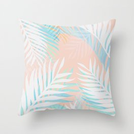 Tropical bliss - palm springs Throw Pillow