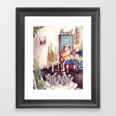 The King - Sing a Song of Sixpence Framed Art Print