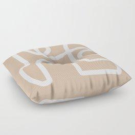 beige squiggle Floor Pillow