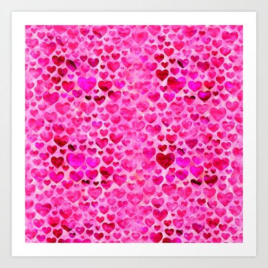 Heart Pattern 07 Art Print