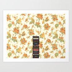 Atari & Flower Wallpaper Art Print