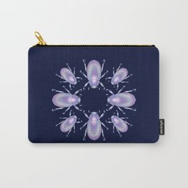 Pearly Holographic Beetle Carry-All Pouch
