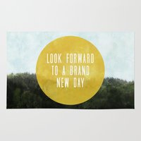 brand new Area & Throw Rugs featuring Brand New Day by serenefolio