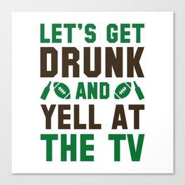Drunk Football Canvas Print