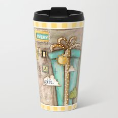 Every Day is a Gift - a collage by Diane Duda Travel Mug