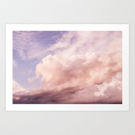 Perfect Pink Summer Sky Nature Photography Art Print