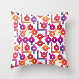 Chemistry Glass simple pattern #2 Throw Pillow