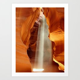 The Antelope Canyon in the USA, Arizona. Art Print