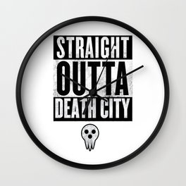 Soul Eater Straight Outta Death City Wall Clock