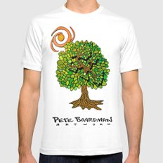 Tree of Life White MEDIUM Mens Fitted Tee