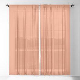 Flare ~ Tangerine Sherbet Coordinating Solid Sheer Curtain