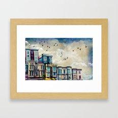 A Mission Street Framed Art Print