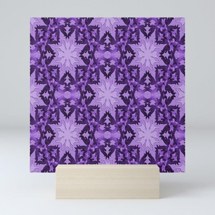 Delightful Lavender Snowflakes... Mini Art Print