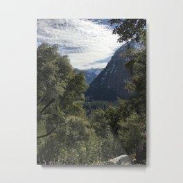 Yosemite Tree Tops Metal Print
