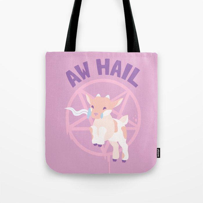 Aw Hail - Pastel Pinks Tote Bag