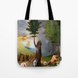 Lorenzo Lotto - Allegory of Virtue and Vice Tote Bag