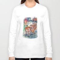 street art Long Sleeve T-shirts featuring Street by Anastasia Tayurskaya